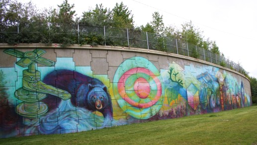 A mural in Lions Park, Fort McMurray, AB