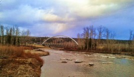 Bridges in Lions Park, Fort McMurray, AB April 2015