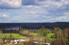 Overlooking Fort McMurray Golf Club