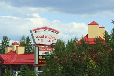 sign Wood Buffalo Village