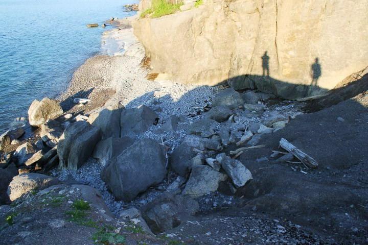 shadows on the rocks