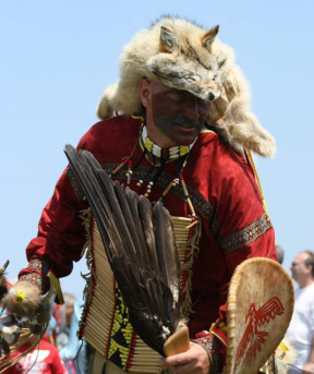 Scott Butt, one of lead dancers at Pow Wow